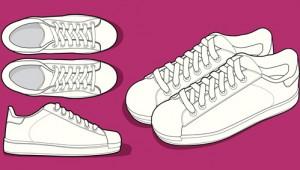 Inhalt des Artikels ist der Modetrend der Retro-Sneaker.