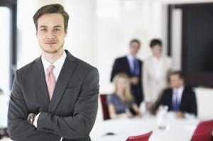 Geschäftsmann in einem Meeting