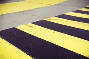 Schwarz und Gelber Fußboden